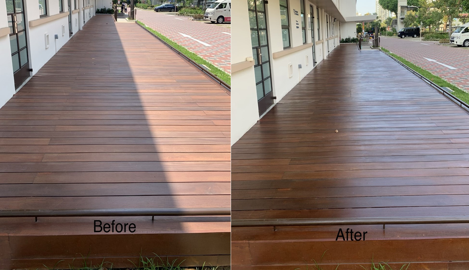 Kwong Wai Shiu Hospital Wooden Decking